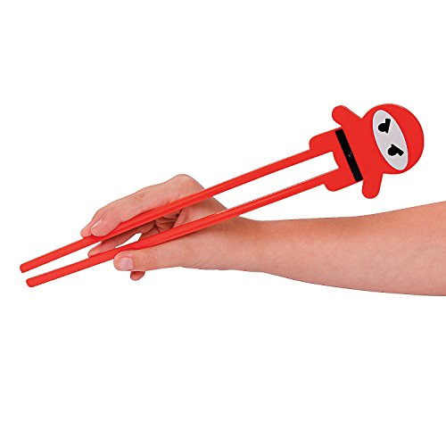 Fun Express Plastic Ninja Chopsticks - 12 Pieces -