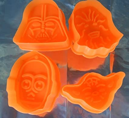 Star Wars cortadores de Galletas, Juego de 4: Darth Vader, Yoda, C3PO