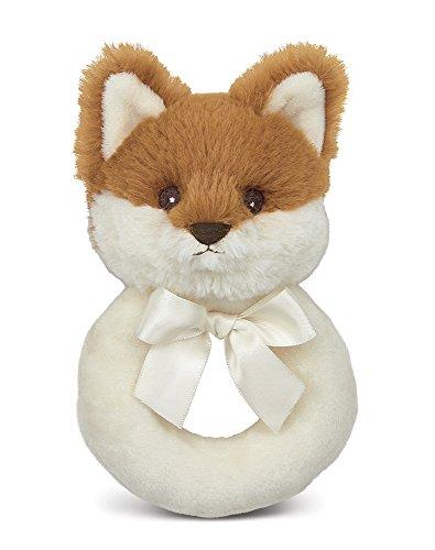 "Bearington Baby Lil' Fritz Fox Plush Ring Rattle 5.5"""