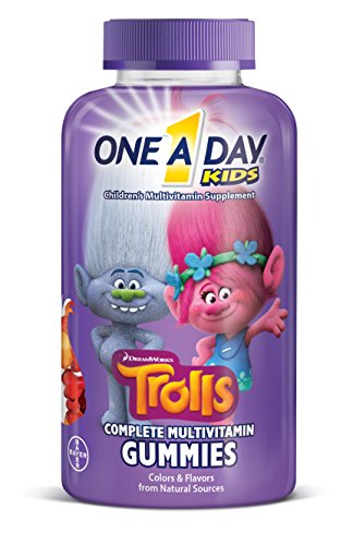 One A Day Kids Trolls Multivitamin Gummies, 180 Count