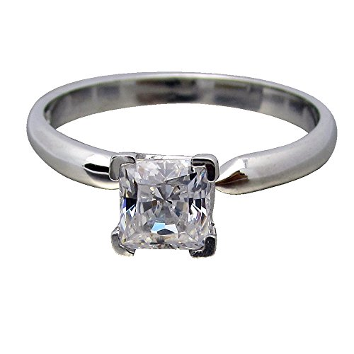 0.5 Ct Princess Solitaire - 1