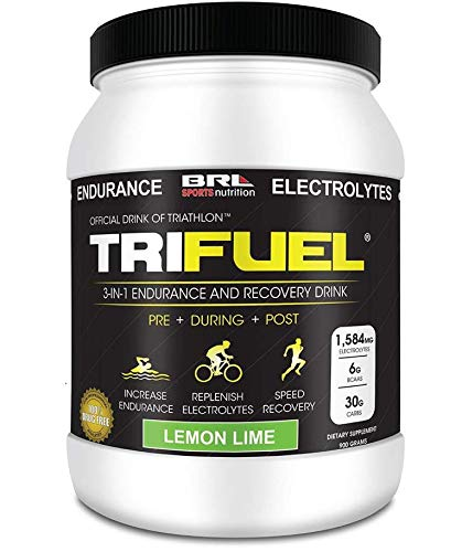 TRIFUEL - 3-in-1 Endurance and Recovery, Hydration, BCAA, Electrolyte Enhanced Drink (Lemon Lime) (Best Endurance Sports Drink)