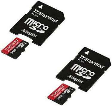 2 Pack DJI Phantom 3 4K Quadcopter Drone Memory Card 2 x 64GB microSDXC Class 10 Extreme Memory Card with SD Adapter