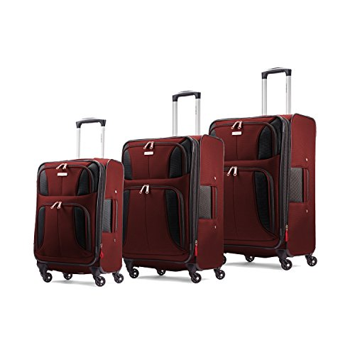 Samsonite Aspire XLite Set of 20 inch,25 inch and 29 inch Spinners, Port Wine