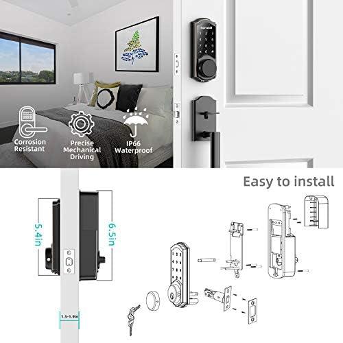 [2020 Newest Version] Keyless Entry Door Lock Deadbolt, Smart Lock Front Door, Electronic Door Locks with Keypads, Digital Auto Lock Bluetooth Smart Door Locks for Homes Bedroom 41 2BZsOg9cAL