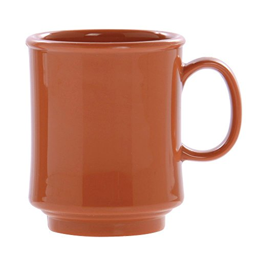 G.E.T Diamond Harvest Stacking Mug 8 Oz Pumpkin Melamine (Stacking Pumpkin)
