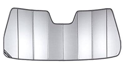 Covercraft UVS100 - Series Heat Shield Custom Windshield Sunshade for Chevrolet and GMC (Laminate Material, Silver) (UV10705SV)