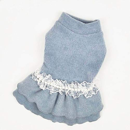 LVYING Dogs Clothes Winter Puppy Small Cats Cute Dresses with Pears Accessories Pets Products