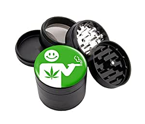 """Smoking Design Micro Crusher 2.5"""" Grinder With Scraper & Velvet Pouch # MG112315-38"""