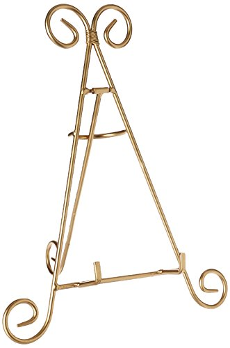 Darice Decorative Tabletop Easel: Gold, 12 inches