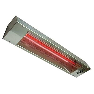 TPI RPH240A Series RPH Outdoor Rated Stainless Steel Electric Infrared Heater, 1600W, 6.7Amps