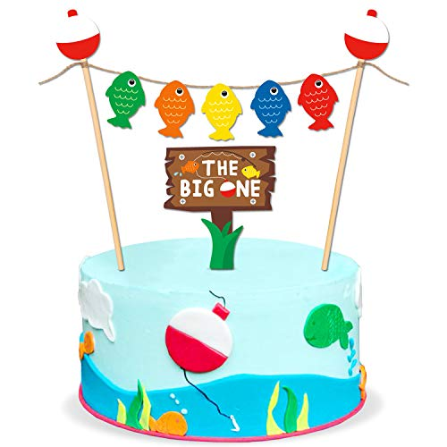 Yaaaaasss! The Big One Cake Topper Bobber Gone Fishing Theme Little Fisherman Baby First Birthday Reel Fun Ideas O Fish Ally One Photo Props Decorations