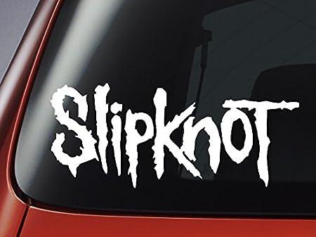 Vinilo Slipknot - Logo blanco - COCHE, ventana, pared, portátil wallkraft: Amazon.es: Hogar