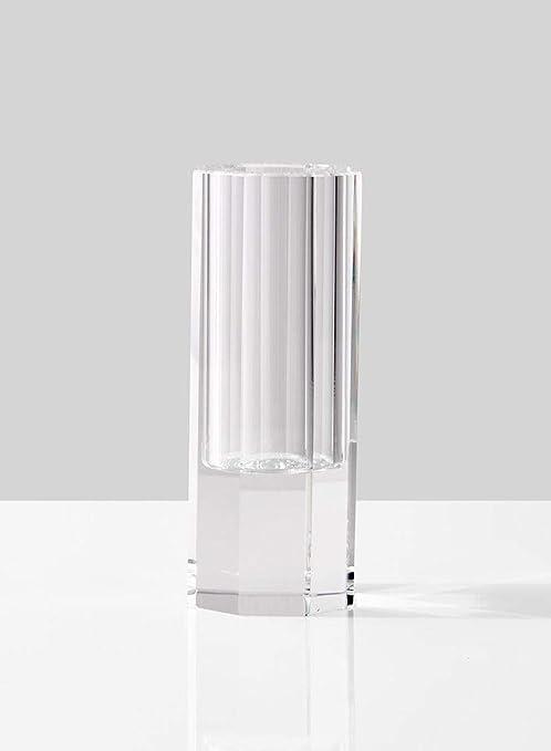 Serene espacios Living jarrón de cristal facetado, ideal como ...