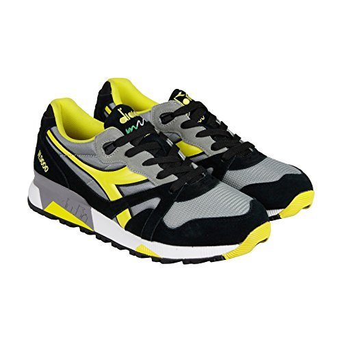 diadora-n9000-nyl-mens-gray-yellow-suede-synthetic-lace-up-sneakers-shoes-9