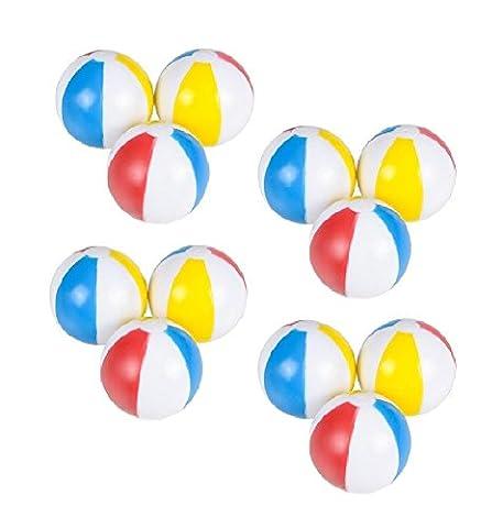 Novelty Treasures FUN Set of 12 Squeeze & Squirt Beach Balls - Treasure Ball