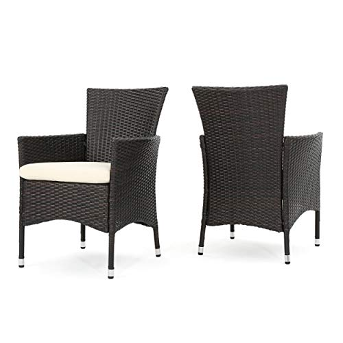 Christopher Knight Home 295968 Clementine Outdoor Multibrown PE Wicker Dining Chairs (Wicker Chairs Dining Cheap)