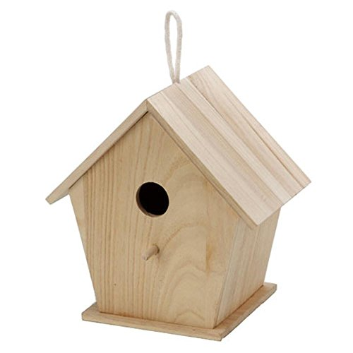 (BestPysanky Blank Unfinished Wooden Birdhouse 9.5 Inches)