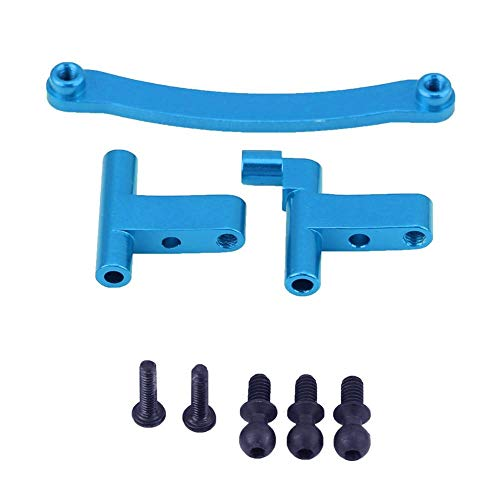 RC Car Steering Servo Saver Complete Set, Aluminum Alloy Steering Servo Saver Complete Mount for FS Monster 1/18 Scale RC Truck(Blue) ()