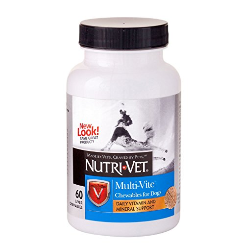 Multivitamins for Dogs Chewable Supplement Daily Vitamin and Mineral Made in USA 60 Count For Sale