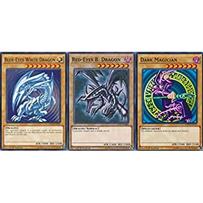 Yu-Gi-Oh! Blue Eyes White Dragon! Dark Magician! Red Eyes B. Dragon! W/Rares Guaranteed 50 Card Lot!: Toys & Games