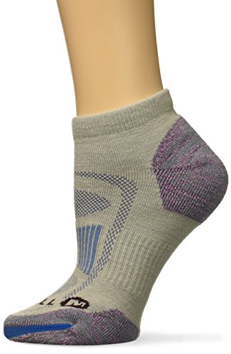 Merrell Women's Zoned Low Cut Light Hiker Sock, Gray, s/m by Merrell