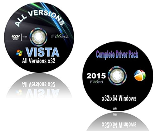 Recovery Disc compatible w\ WINDOWS Vista x32/32 ALL VERSIONS Boot Disc ~Factory Fresh Re-Install~Full Support...