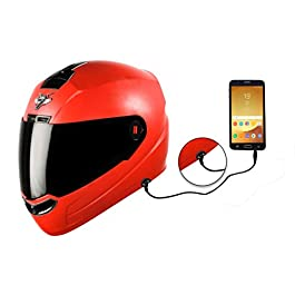 Steelbird SBA-1 7Wings HF Dashing Full Face Helmet and Detachable Handsfree Device (Regular Fit Large 600 MM, Dashing…