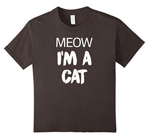 Grumpy Cat Costume Amazon (Kids Meow I'm A Cat Funny Cat Lover Halloween Costume T-Shirt Tee 12 Asphalt)