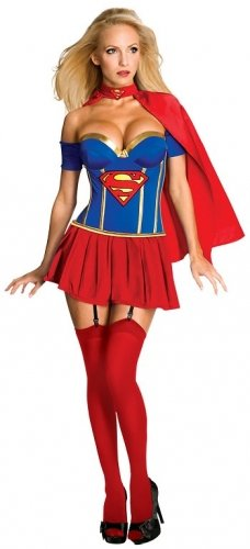 Character Secret Wishes Superman Supergirl Premium Adult Corset Extra Small Costume