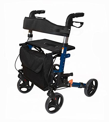 AdirMed Four Wheel, Euro Style, Easey to Fold Rollator Wa...