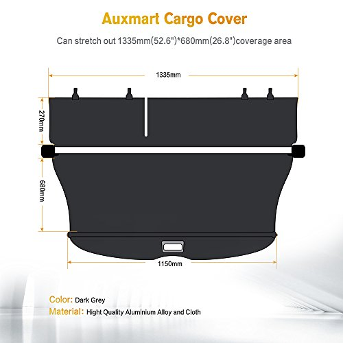 AUXMART Cargo Cover For Toyota Highlander 2014 2015 2016