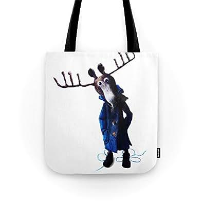 "Society6 Funny Moose Tote Bag 13"" x 13"""