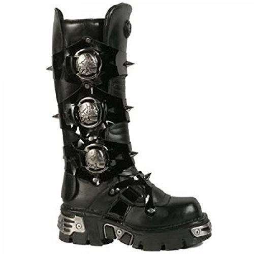 Nuovi Stivali Di Roccia M.750-c1 Gotico Hardrock Punk Unisex Stiefel Schwarz
