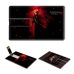 16GB USB Flash Drive USB 2.0 Memory Credit Card Size Anime Hellsing Comic Game Customized Support Services Ready Integra Wingates Hellsing 004