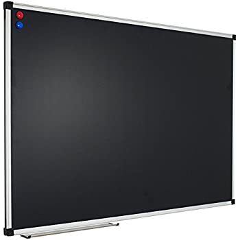 xboard magnetic blackboard 36 x 24 inches aluminum framed chalkboard with chalk tray and 2 magnets