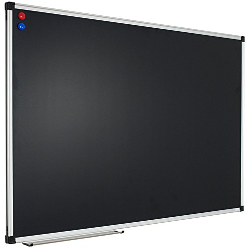 Xboard 48 X 36 Inch Magnetic Framed Chalkboard  Wall Mounted Black Bulletin Board With 2 Magnets