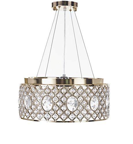 Top Lighting Gold Finish Modern Crystal Chandelier, Pendant Hanging or Flush Mount Ceiling Lighting Fixture