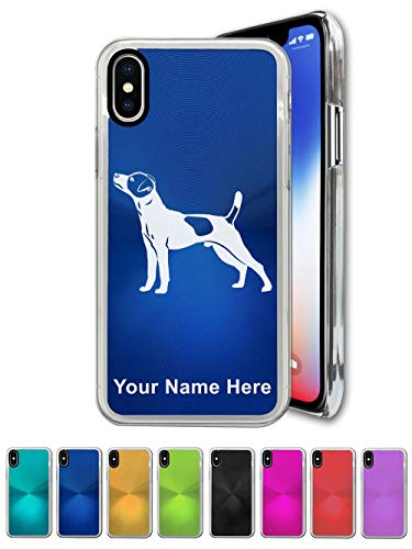 Case for iPhone X, Jack Russell Terrier Dog, Personalized Engraving Included