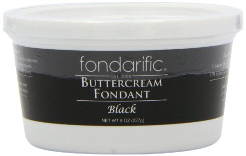 (Fondarific Buttercream Fondant, Black, 8 Ounce )
