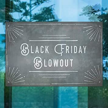 Black Friday Blowout 36x24 Chalk Corner Window Cling 5-Pack CGSignLab
