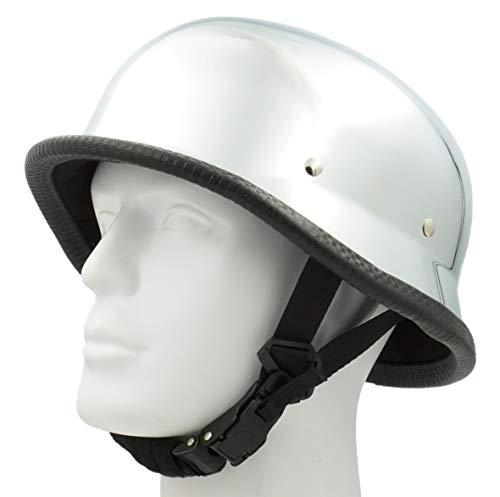 Hot Rides Classic Chopper Biker ATV Helmet Novelty (Non Dot) For Cruiser Harley Scooter German OSFM Chrome ()