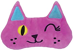 iscream Fun and Colorful Satin-Lined Silky Fleece Sleep Mask for Girls - Furry Friends Collection