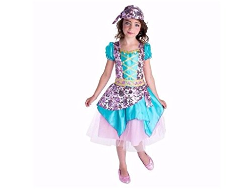 Girls Fortune Teller Halloween Costume Includes Dress and Headpiece Size Large (Target Kids Costume)