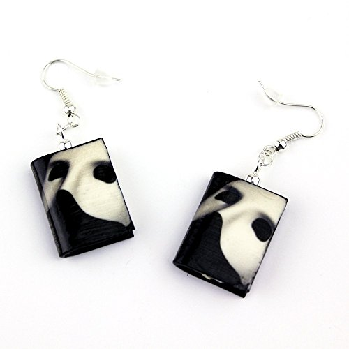 PHANTOM OF THE OPERA Polymer Clay Mini Book Earrings by Book Beads Costume Jewelry with Books (Hot Dollar Costumes)