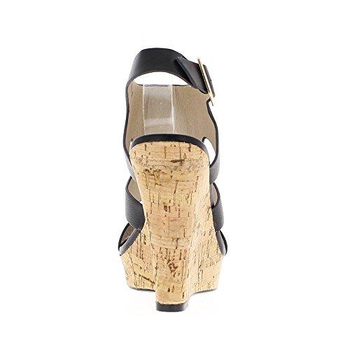 Weiße Sandalen Keilabsatz über 12,5 cm und 3 cm tray