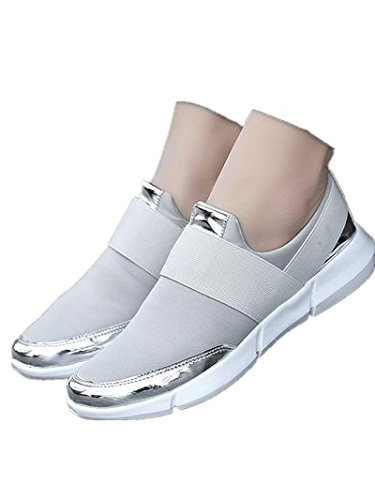 Flats Casual Silver Platform Shoes Flat silver On New Women Casual Shoes Reneem Gray Women Summer Ladies Shoes Slip Female tagxZwCq