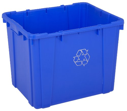 Continental 5914-1 14-Gallon Curbside Recycling Bin, Rectangular, (Curbside Recycling Containers)