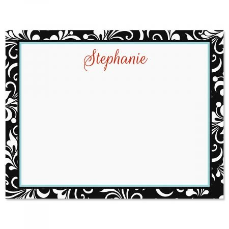 Personalized Opulent Correspondence Cards - 24 Cards with Envelopes, 4-1/4