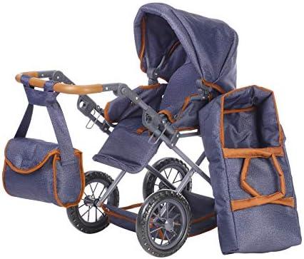 KNORRTOYS.COM 63130 Knorrtoys 63130-Puppenwagen Ruby-Dark Blue Puppenwagen